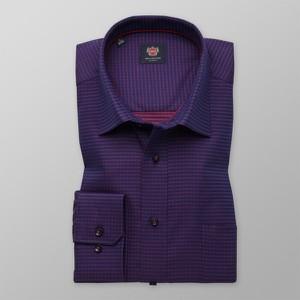 Fioletowa koszula Willsoor w stylu casual z klasycznym kołnierzykiem z długim rękawem