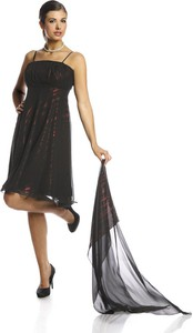 Czarna sukienka Fokus midi gorsetowa