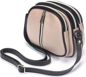 Czarna torebka Domeno na ramię ze skóry