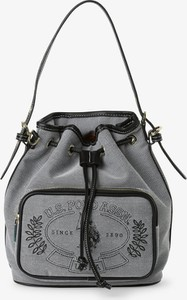 Czarna torebka U.S. Polo matowa na ramię