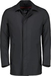 Czarny płaszcz męski Lavard z tkaniny