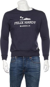 Granatowy t-shirt Felix Hardy z długim rękawem