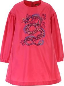 Różowa sukienka dziewczęca Kenzo