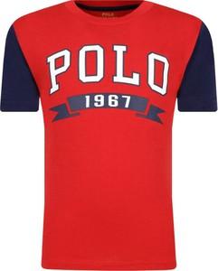 Czerwona koszulka dziecięca POLO RALPH LAUREN z krótkim rękawem