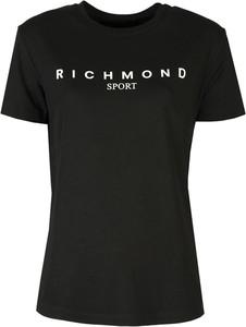 Czarny t-shirt ubierzsie.com z tkaniny