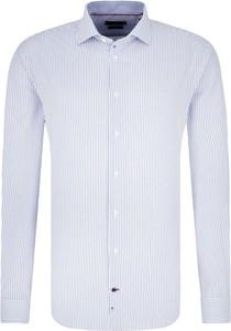 Niebieska koszula Tommy Tailored z bawełny
