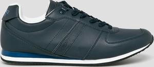 Buty sportowe Versace Jeans sznurowane ze skóry