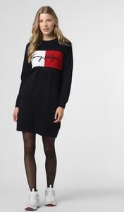Czarna sukienka Tommy Hilfiger w stylu casual mini z długim rękawem