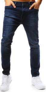 Niebieskie jeansy Dstreet z jeansu