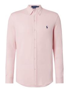Różowa koszula POLO RALPH LAUREN z bawełny z kołnierzykiem button down
