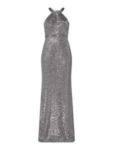 Srebrna sukienka Troyden Collection bez rękawów