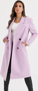 Fioletowy płaszcz Asos Design