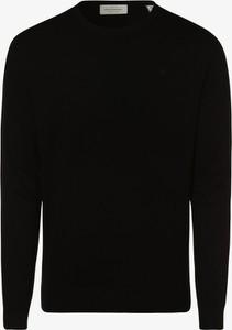 Czarny sweter Scotch & Soda z okrągłym dekoltem w stylu casual