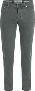 Zielone jeansy Jacob Cohen z bawełny