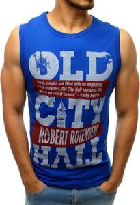 Niebieska koszulka Dstreet w młodzieżowym stylu