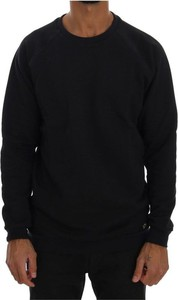 Czarny sweter Daniele Alessandrini z bawełny w stylu casual