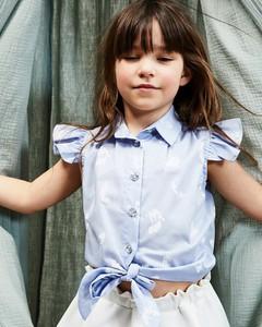Niebieska bluzka dziecięca Banana Kids z krótkim rękawem