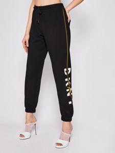 Czarne spodnie sportowe DKNY