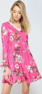 Renee fuksjowo-czerwona sukienka sweety flower