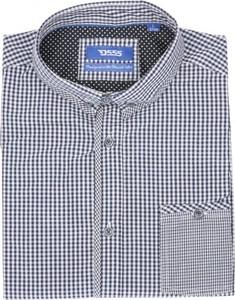 Koszula D555 z kołnierzykiem button down z bawełny z krótkim rękawem
