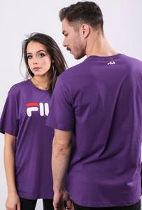 Fioletowy t-shirt Fila z krótkim rękawem
