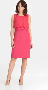 Sukienka Marcelini dopasowana z szyfonu