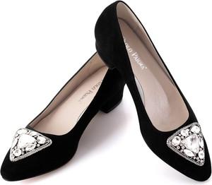 Czarne baleriny calzado w stylu klasycznym