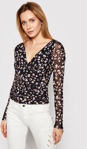 Bluzka Guess z długim rękawem z dekoltem w kształcie litery v