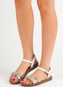a0020aaaed902f płaskie sandały na platformie - stylowo i modnie z Allani