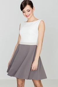 Sukienka LENITIF rozkloszowana bez rękawów z okrągłym dekoltem