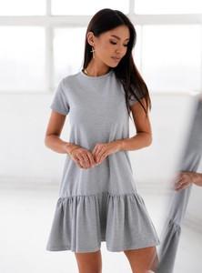 Sukienka SELFIEROOM z okrągłym dekoltem mini z bawełny