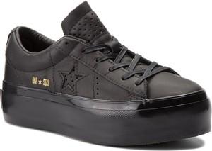 Sneakersy converse - one star platform ox 559898c black/black/black