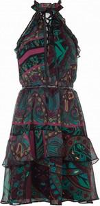 Sukienka VISSAVI mini ze skóry w stylu casual