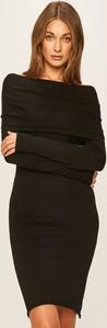 Sukienka Twinset z golfem z długim rękawem prosta