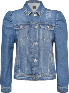 Niebieska kurtka Pinko krótka z bawełny