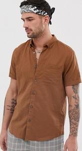 Brązowa koszula River Island z krótkim rękawem