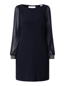 Sukienka Apricot z okrągłym dekoltem z długim rękawem mini