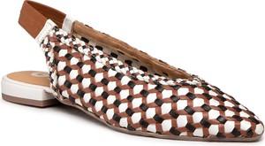 Brązowe sandały GIOSEPPO w stylu casual ze skóry