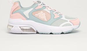 Buty sportowe Kappa ze skóry ekologicznej sznurowane z płaską podeszwą