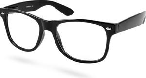 Evershade Czarne okulary retro z zerówkami