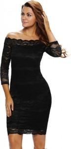 Sukienka noshame midi z długim rękawem