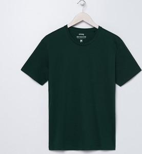 Zielony t-shirt Sinsay z krótkim rękawem
