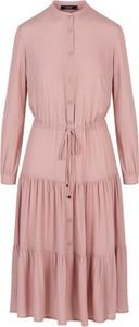 Różowa sukienka ECHO mini w stylu casual