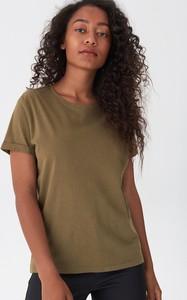 Zielony t-shirt House z krótkim rękawem z bawełny
