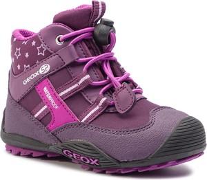 Buty dziecięce zimowe Geox z plaru sznurowane