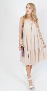 Sukienka Olika midi na ramiączkach