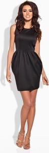 Granatowa sukienka Coco Style mini bez rękawów z okrągłym dekoltem