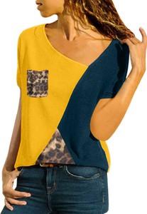 Żółta bluzka Cikelly z okrągłym dekoltem z długim rękawem