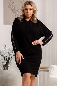 Czarna sukienka KARKO w stylu casual z długim rękawem mini