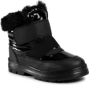 Czarne buty dziecięce zimowe Primigi z goretexu